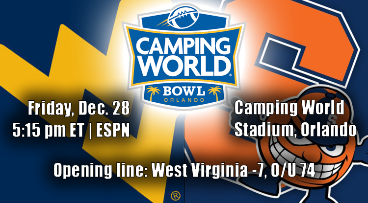 West Virginia Vs. Syracuse:  Camping World Bowl  History & Betting Trends