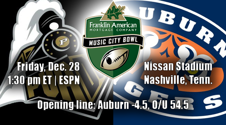 Auburn Vs. Purdue: Music City Bowl Trends & Betting History