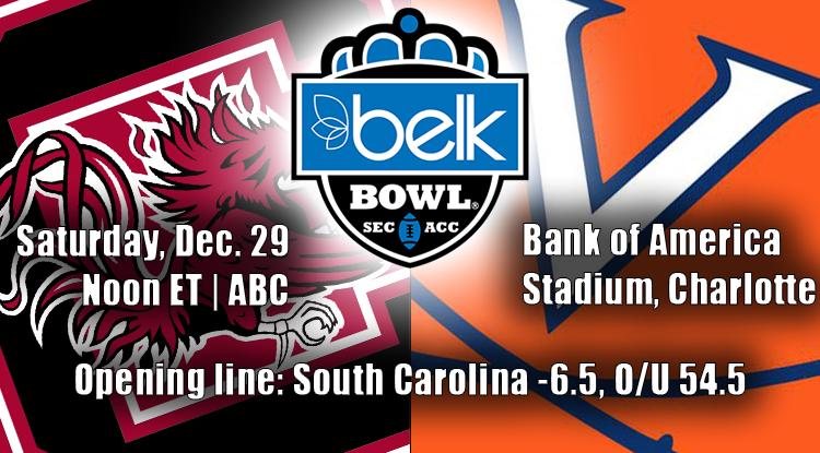 South Carolina Vs. Virginia: Belk Bowl Trends & Betting History