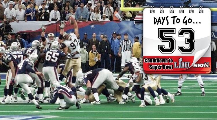 53 Days Until Super Bowl LIII: Brady & Vinatieri Beat Heavily-Favored Rams