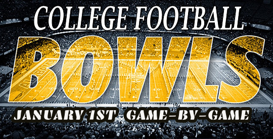 January 1st Bowls Game-By-Game Totals College Football Picks