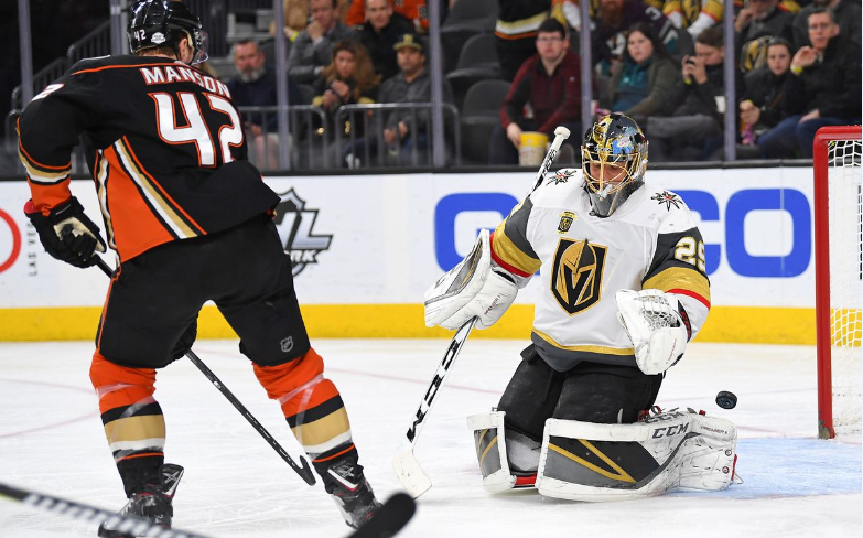 Fleury, Knights To Shut Down Ducks For Fifth Straight Victory