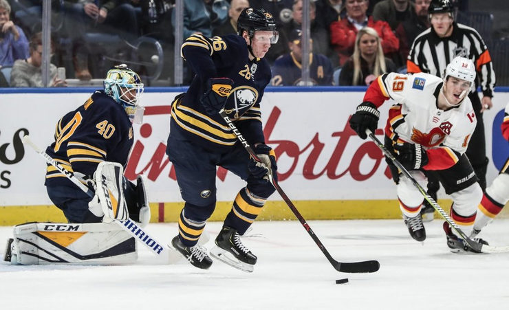 Flames To Get 6th Straight Win Over Dull Sabres
