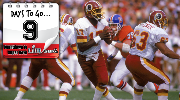 9 Days Until Super Bowl LIII: Williams Goes Into Overdrive At Super Bowl XXII