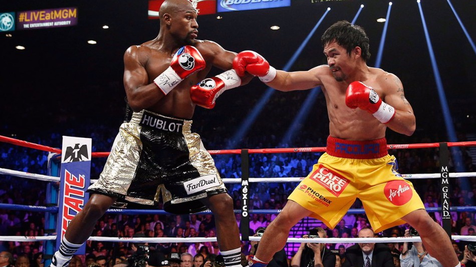 Floyd Mayweather & Manny Pacquiao Exchange Words On Social Media