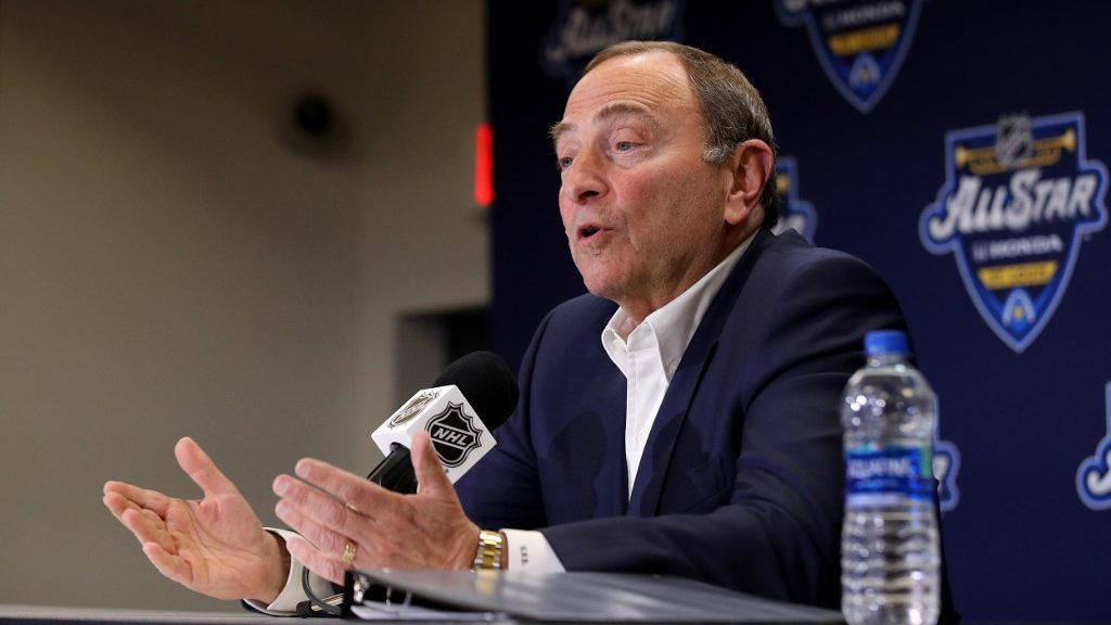 Commissioner Gary Bettman Announces NHL Return With a 24-Team Playoff
