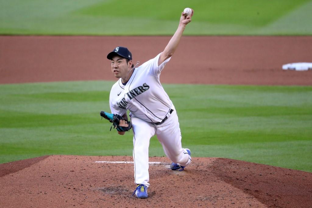 Yusei Kikuchi #18 of the Seattle Mariners
