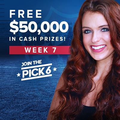 NFL Pick 6 Contest Bets for Week 7: Matt Ryan Proves He's Still Elite, Lions vs. Falcons