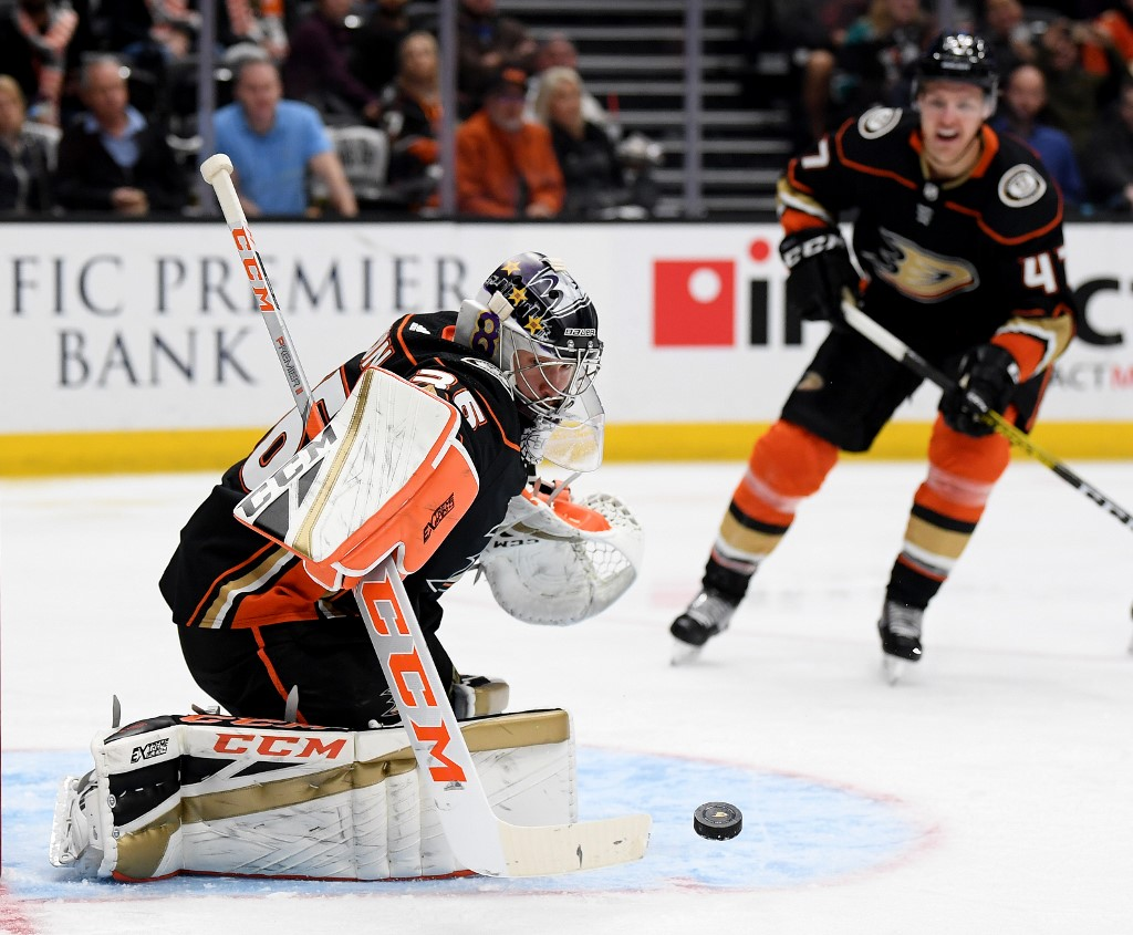 John Gibson is one of the Ducks' best players