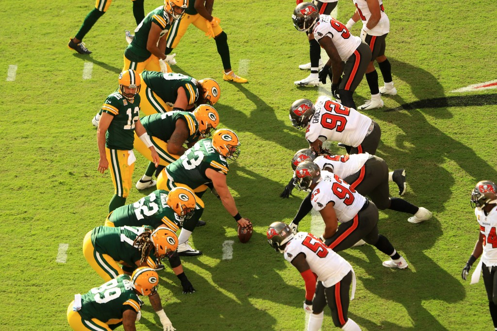 The Packers play the Bucs on Sunday's NFC Championship Game