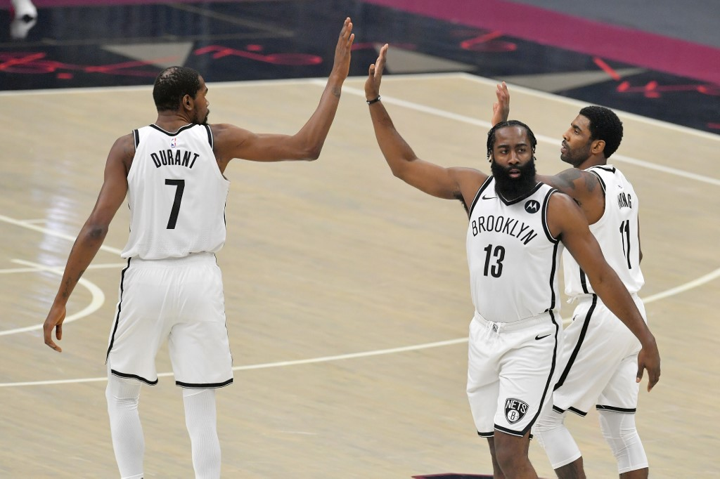 Harden, Irving, and Durant of the Nets