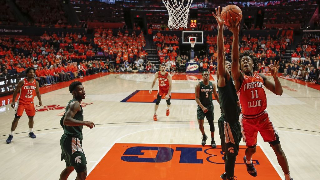 Illinois vs. Michigan State: NCAA Basketball Picks and Predictions