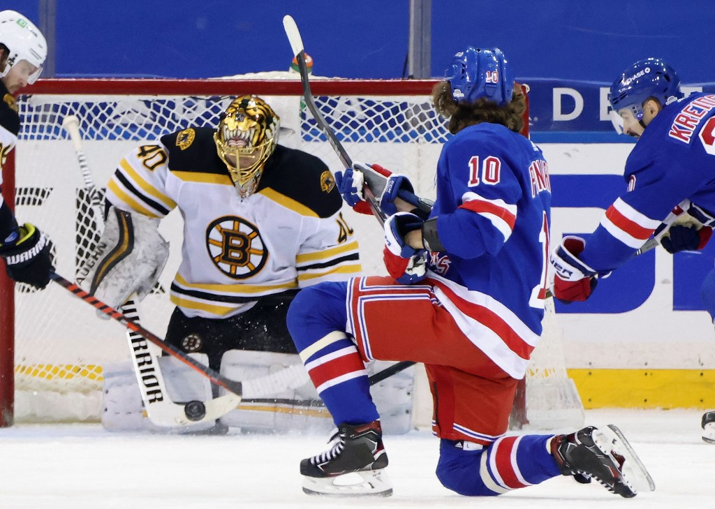 The Bruins play the Rangers tonight