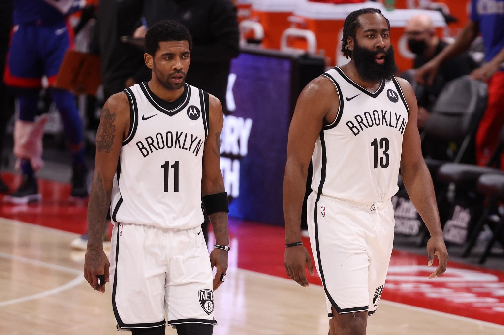 Irving and Harden of the Nets